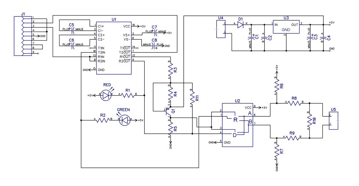 Konstrukce datového konvertoru mezi linkami RS-232 a RS-485 se zajištěním úpravy napěťových úrovní i automatického...